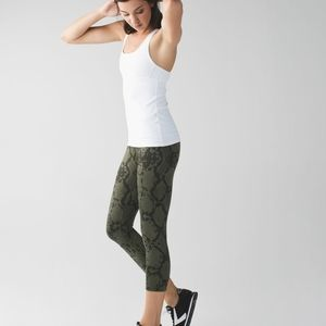 Lululemon snakeskin Wunder Under Crop